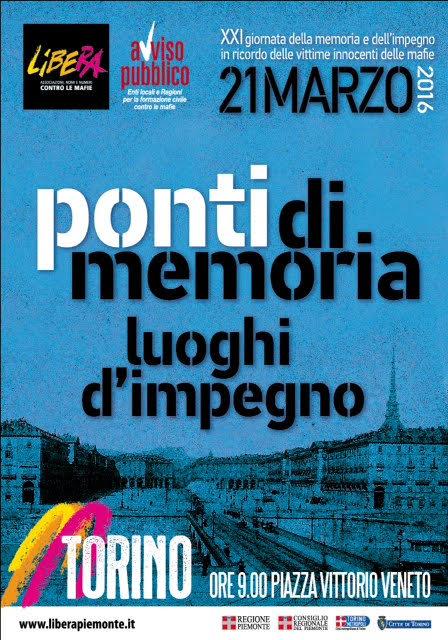 XXI Giornata della Memoria e dell'Impegno